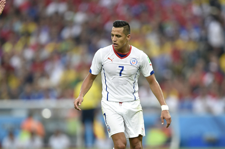 Alexis Sanchez Playing For Chile