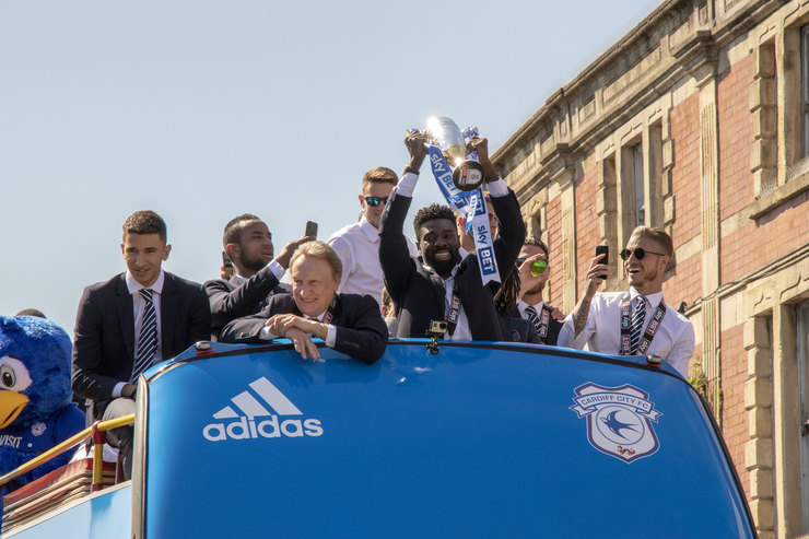 Cardiff City Bus Top Promotion Parade