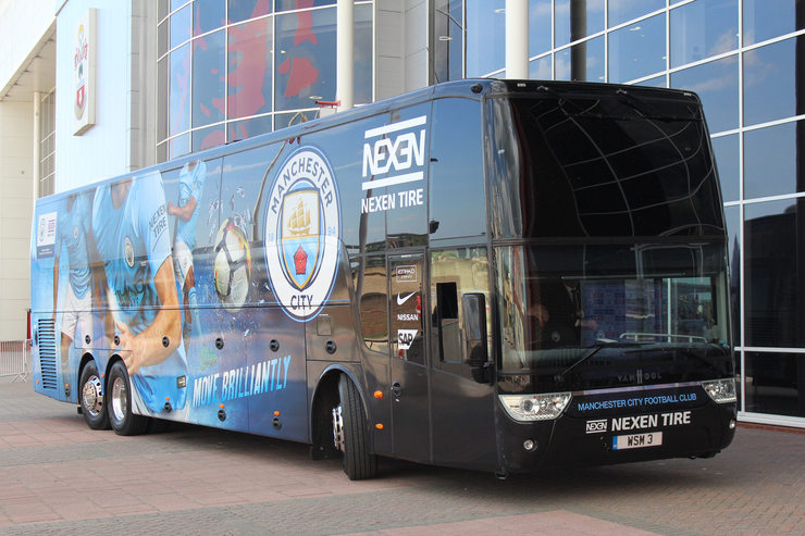 Manchester City Team Bus