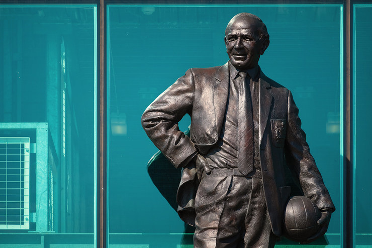 Sir Matt Busby Statue at Old Trafford