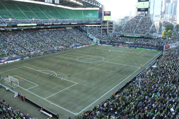CenturyLink Field in Seattle During Soccer Match