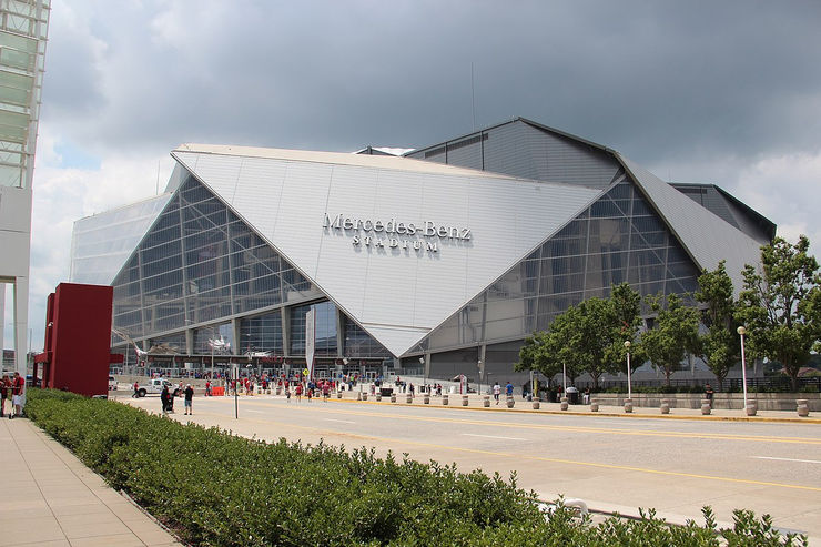 Mercedez-Benz Stadium in Atlanta