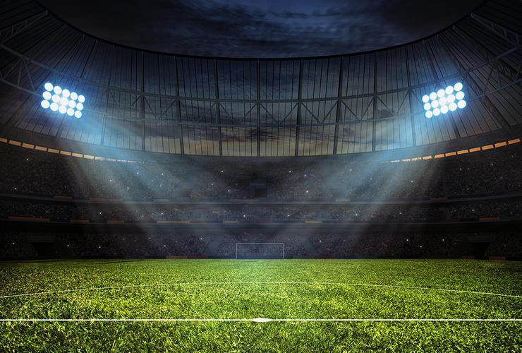 Football Stadium and Floodlights