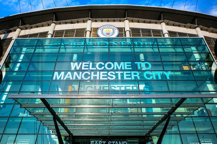 Entrance to Manchester City's Etihad Stadium East Stand