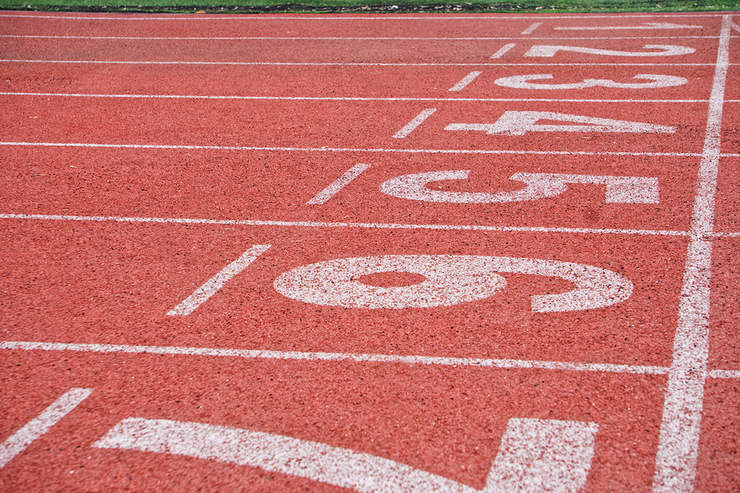 Running Track Finish Line