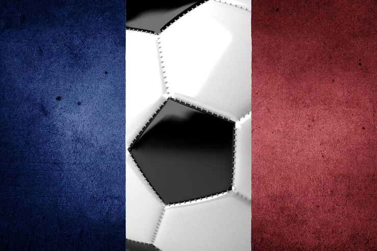 France Flag with Football Centre Panel