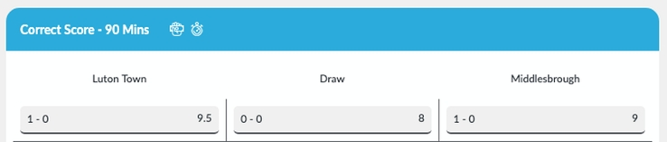 Luton vs Middlesbrough 0-0