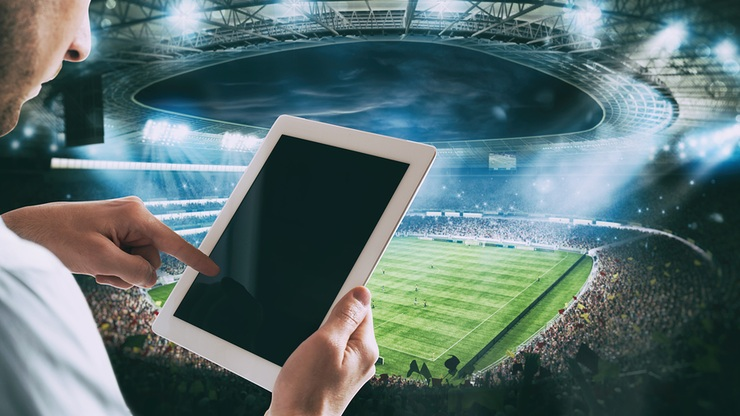 Betting With Tablet at Stadium