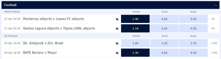 Acca Short Priced Favourites
