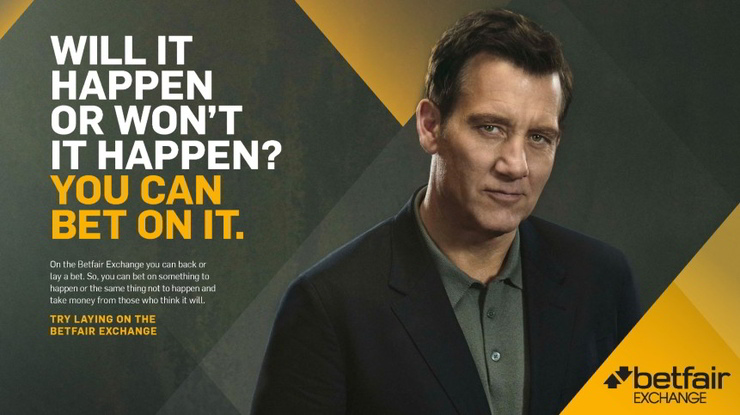 Betfair Exchange Clive Owen