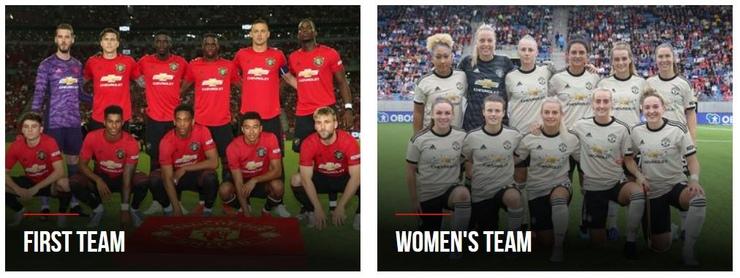 Man Utd First Team and Womens Team