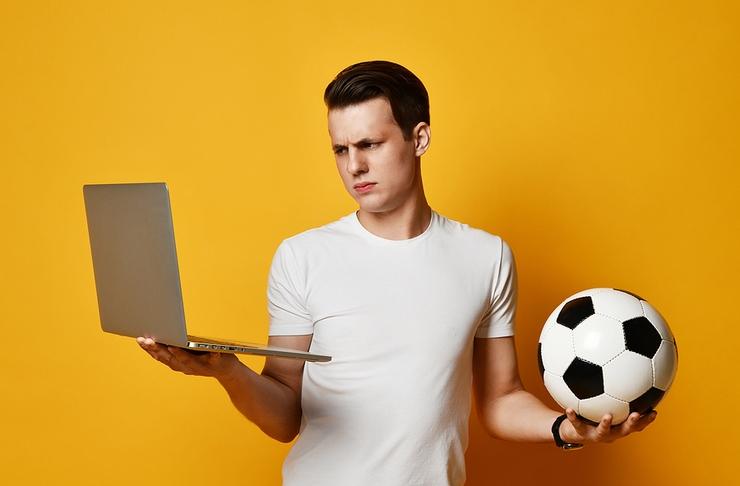 Streaming Delay Frowning Laptop Football