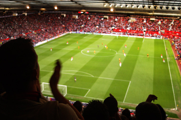Manchester United Old Trafford Blurred Game