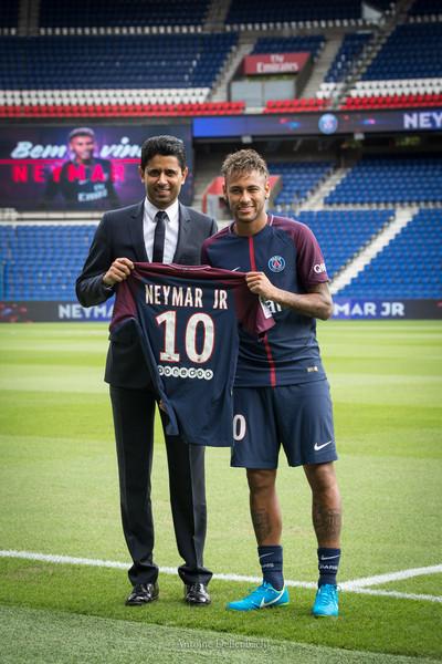 Neymar at PSG Presentation