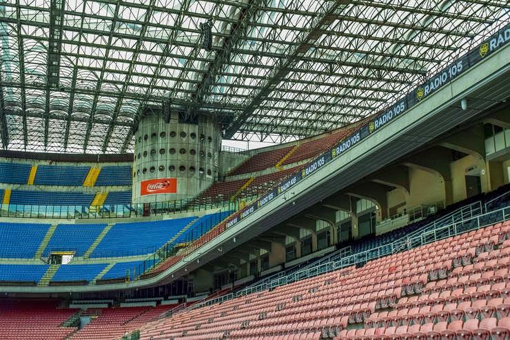 Stands at the San Siro, Milan